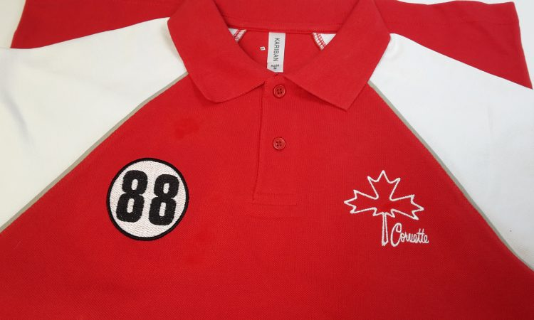 Broderie, polo personnalisée